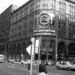 Photograph of the Gimbel Brothers Department store at Eight and Market Streets in 1966
