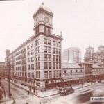 1900 photograph of John Wanamaker's Grand Depot from across the street.