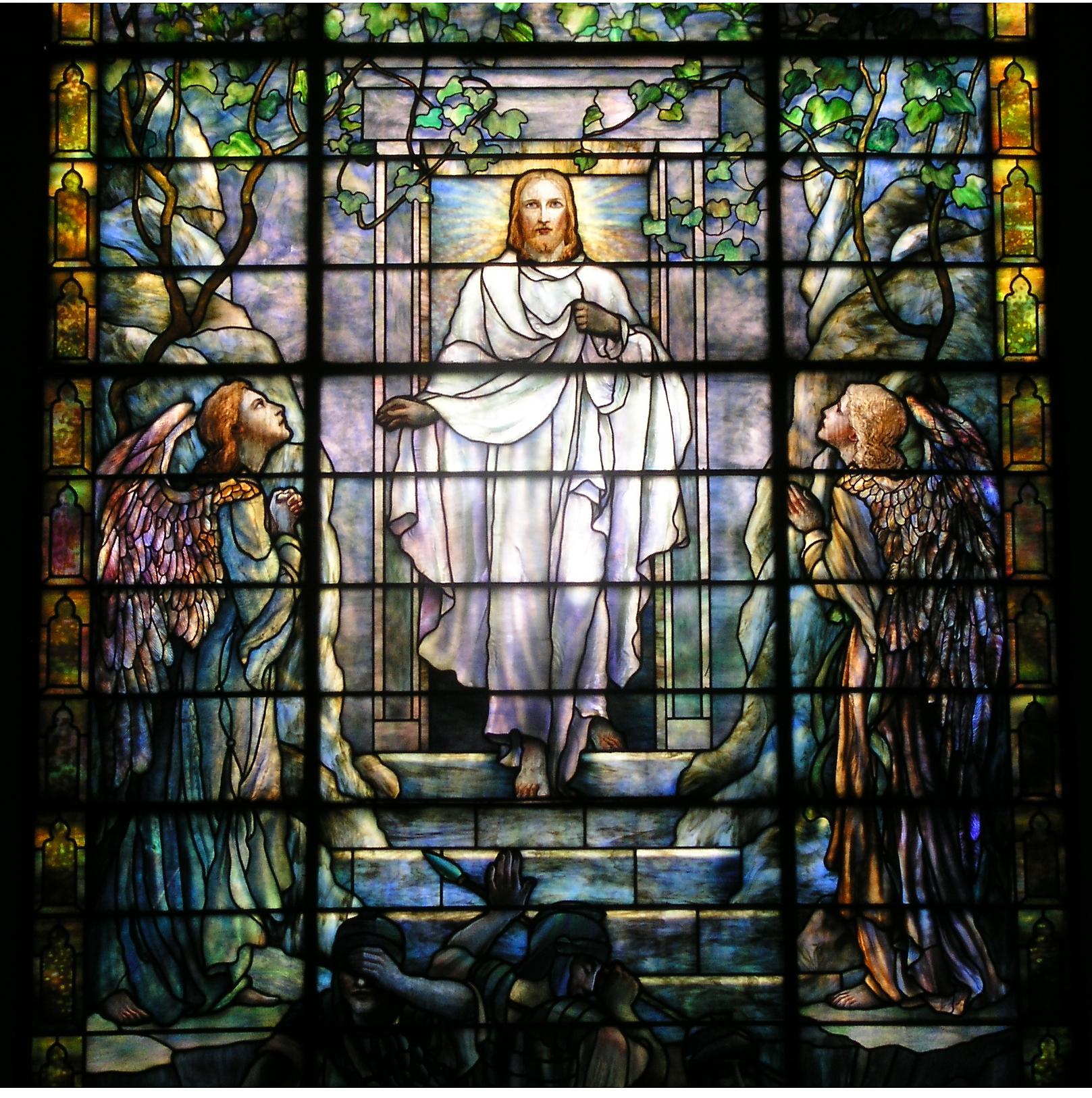 Tiffany Stained Glass : Tiffany window calvary umc encyclopedia of greater