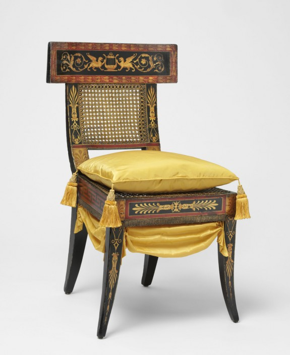 Klismos form chair (1808), by Benjamin Henry Latrobe. (Philadelphia Museum of Art) Link to the Artifacts Gallery to learn more.