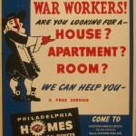 Poster offering aid to war workers