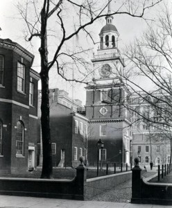 photograph of Independence Hall's steeple