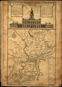 Scull and Heap Map of Philadelphia, 1752