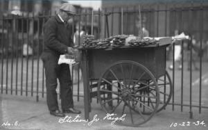 Pretzel Vendor, 1934