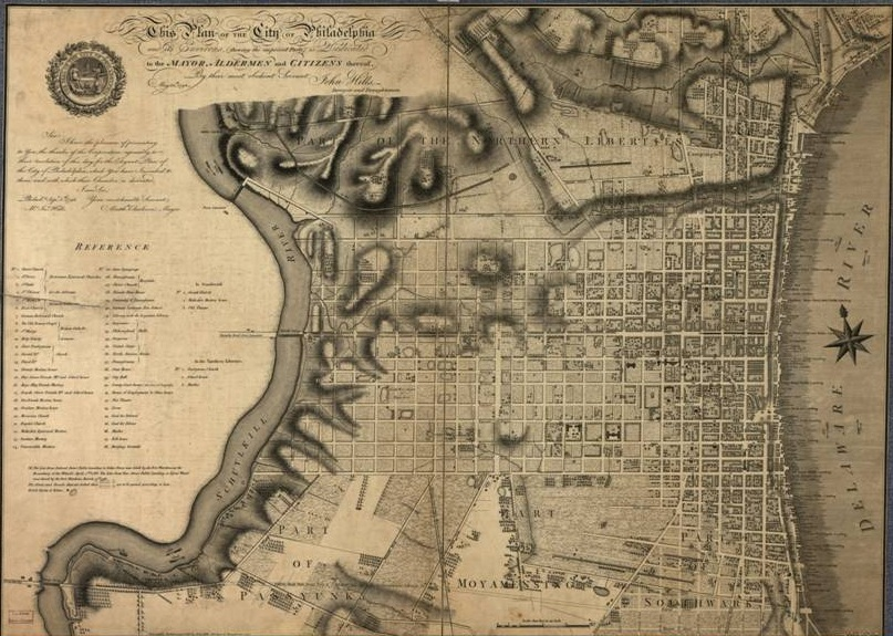 Map Of Philadelphia 1796  Encyclopedia Of Greater