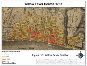 map showing yellow fever epidemic