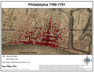 map of the elite corridr of market street