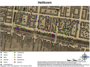 "map of ""Hell Town"""