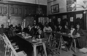 photograph of a literacy class
