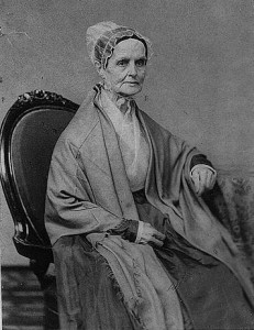 Portrait of Lucretia Mott, seated