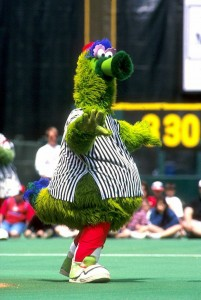 photograph of the Phillie Phanatic