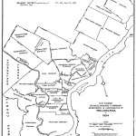 A map of Philadelphia from 1854 defining each district and township involved in the consolidation of Philadelphia.