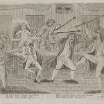 cartoon depicting a fight in Congress Hall