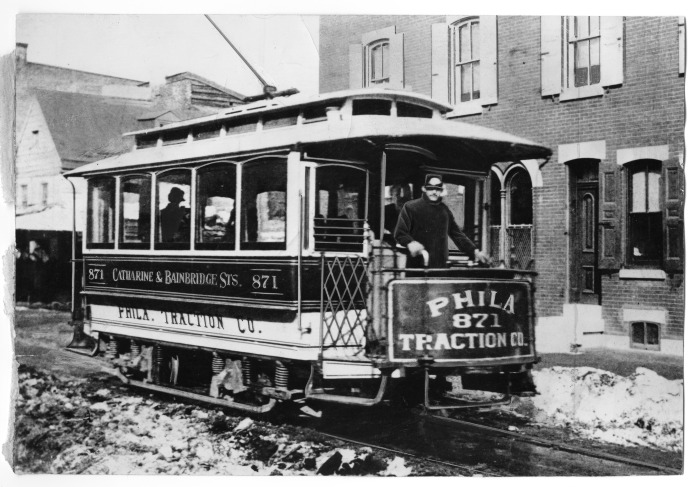 First Electric Trolley Encyclopedia Of Greater Philadelphia