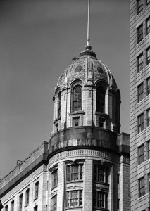 """In Philadelphia, nearly everybody reads The Bulletin!"" The impressive Bulletin Building, located near City Hall at Juniper and Filbert Streets, served as the paper's headquarters from 1908 to 1955. (Library of Congress)"