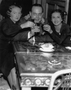 photograph of a Philadelphia man and two women celebrating the repeal of Prohibition