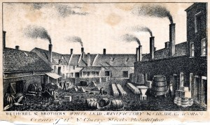 The second Wetherill & Son's factory, built in 1812