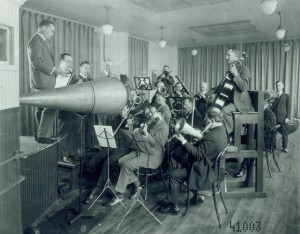 photograph of a recording session
