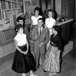 photograph of Dick Clark with fans