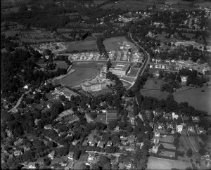 Aerial photograph of Lower Merion Senior High School, Ardmore Junior High School