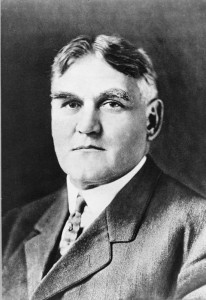 A photograph of Martin G. Brumbaugh. Martin is starring directly at the camera and is wearing a suit jacket and tie. The photograph is from the shoulders and up.