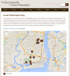 Example of map page: South Philadelphia