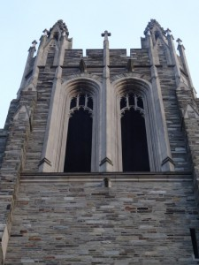 The bell tower at Saint Joseph's.