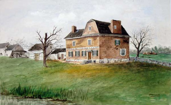painting of the cannonball house
