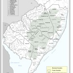 a map of the various municipalities of the Pinelands