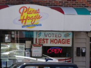Planet Hoagie in Media, Pa., is one of countless shops that hawk hoagies in Greater Philadelphia. (Photo by Donald D. Groff for the Encyclopedia of Greater Philadelphia)