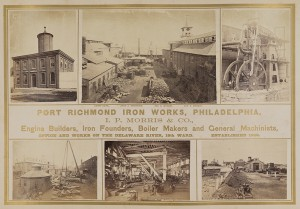 Photographs taken at the I.P. Morris iron works in 1869 depict the growing scale of Philadelphia industry in the second half of the nineteenth century. (Southern Methodist University, Central University Libraries, DeGolyer Library)