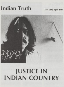 "image of the cover of Indian Truth magazine, which has a photo of a man and the text ""Justice in Indian Country"""
