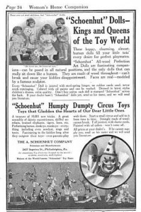 The Women's Home Companion carried Shoenhut's advertisement for the Humpty Dumpty Circus Set just in time for Christmas 1913. (Women's Home Companion via Google Books)