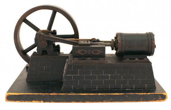 Model of a horizontal steam engine.