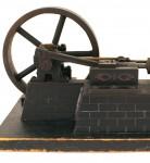 Model of a horizontal steam engine.