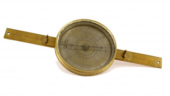 Photograph of compass used in laying out City of Philadelphia.