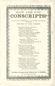 Sheet music about the draft