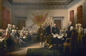 The Declaration of Independence, by John Trumbull. (Architect of the Capitol)