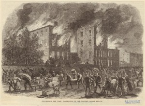 Illustration of New York City draft riots