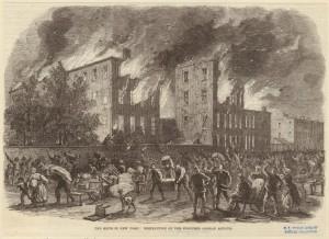 Illustration of New York City draft riots
