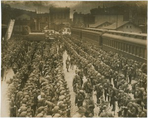 Troops return to Philadelphia from service in the Great War. (Library Company of Philadelphia)