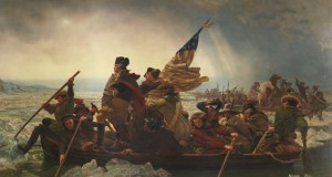 image of Emanuel Leutze's painting of Washington Crossing the Delaware