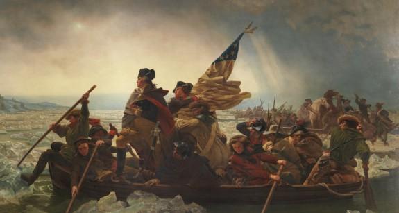 image of Emanuel Leutze's painting of Washington Crossing the Delaware