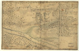image of a map of the battle of trenton