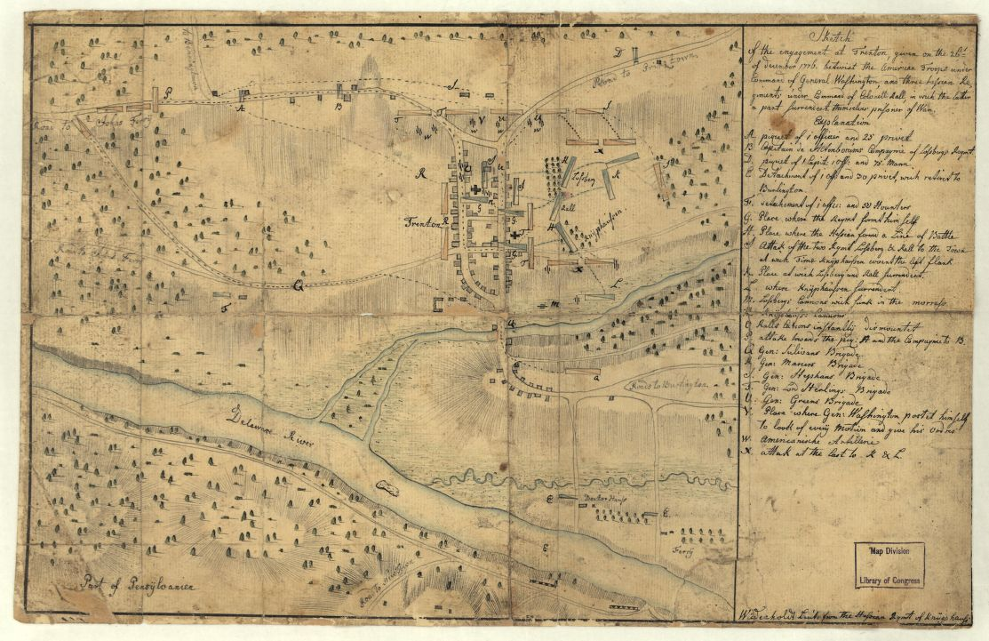 Map of the Battle of Trenton 1776 Encyclopedia of Greater