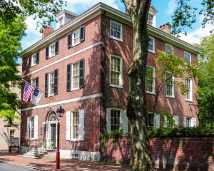 Physick House (1786). Last surviving free-standing Federal-style mansion in Society Hill. Home of Dr. Philip Syng Physick, father of American surgery.