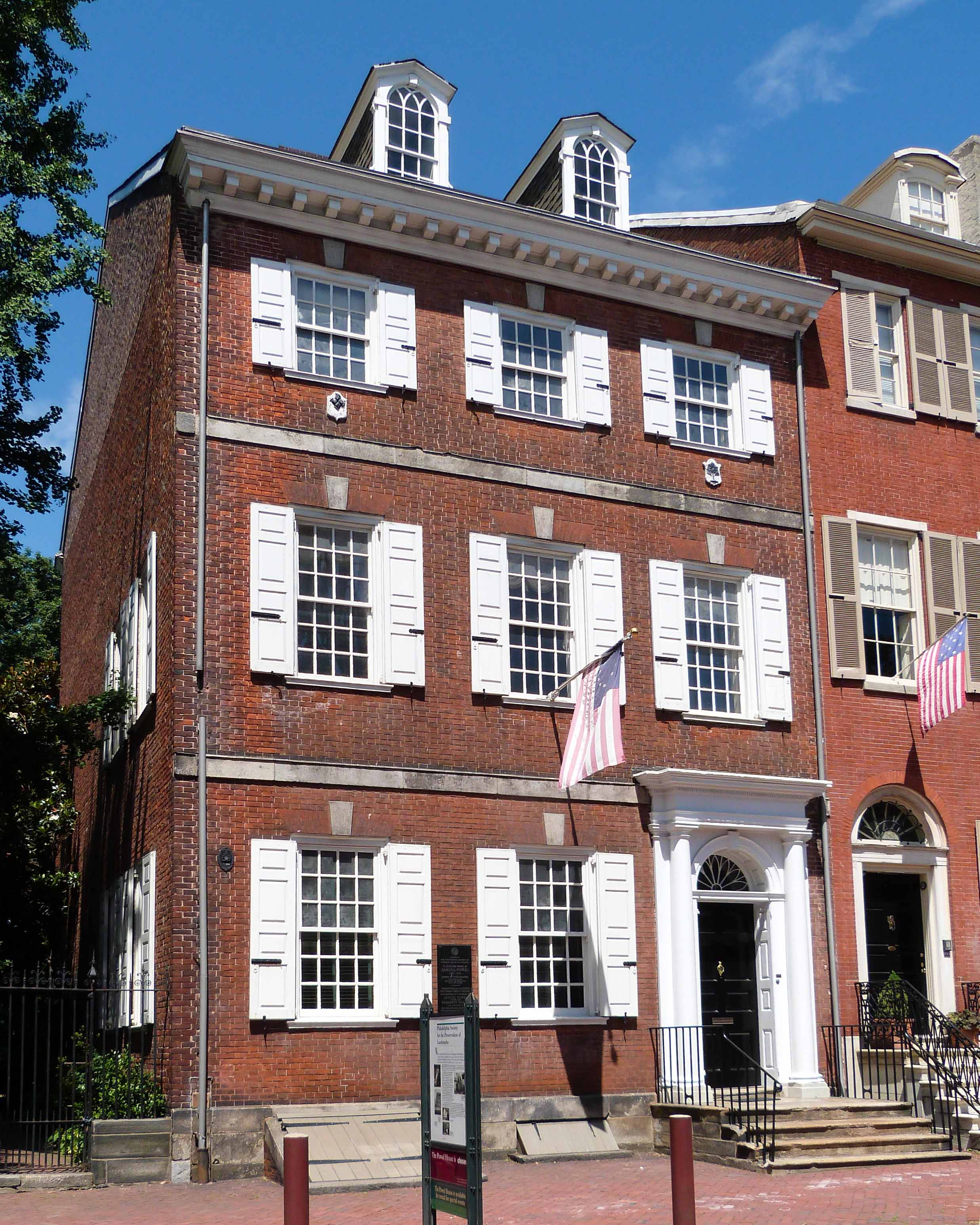 Society hill encyclopedia of greater philadelphia for Powell house
