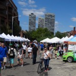 photo of clean air fair on Second Street in September 2014.