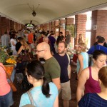 Photo of the farmers market held at the Head House in Society Hill during fair-weather months.
