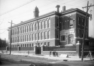 A view of the Charles W. Henry School in West Mount Airy, taken in 1908.